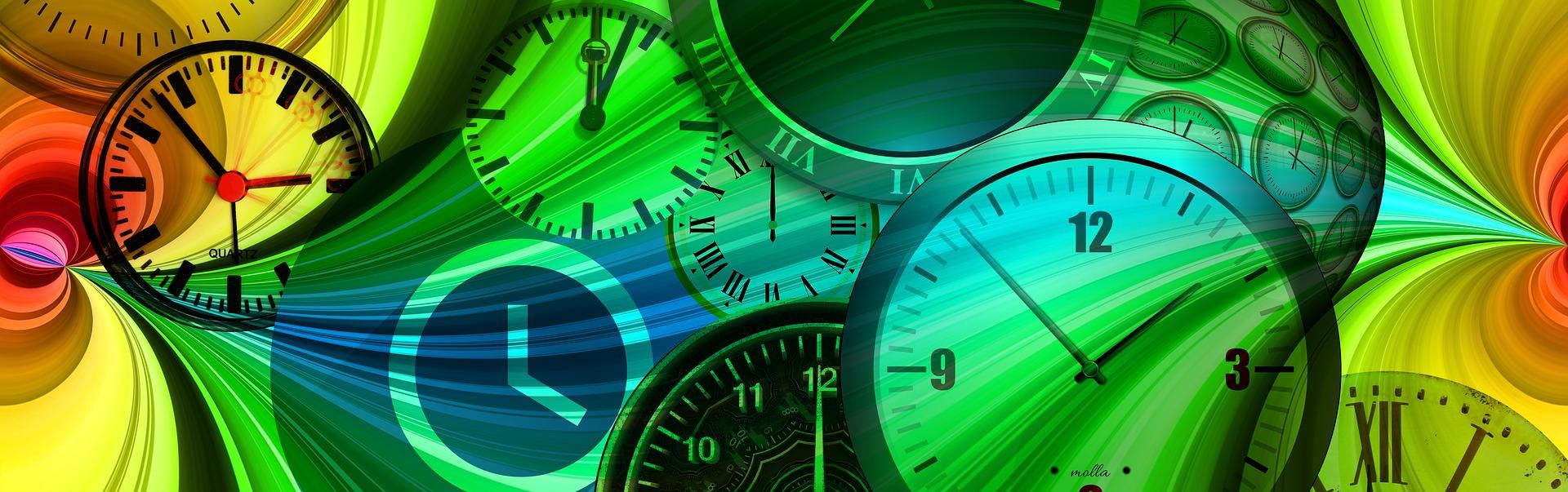 期間を表す時計