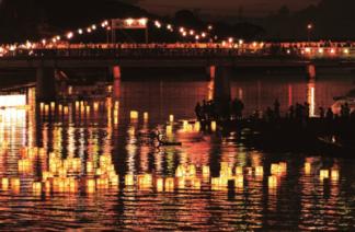 湊川灯篭流し画像