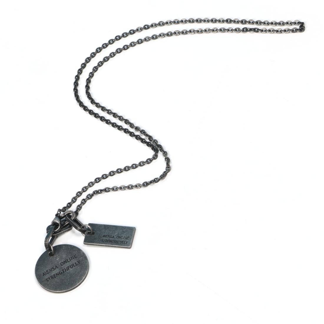 サークル×プレートネックレス 黒